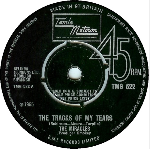 Smokey Robinson And The Miracles - 'The Tracks Of My Tears'
