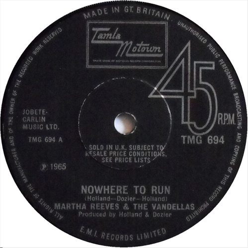 Martha Reeves And The Vandellas - 'Nowhere To Run To'