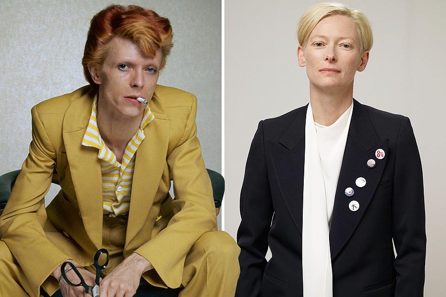 Tilda Swinton as David Bowie