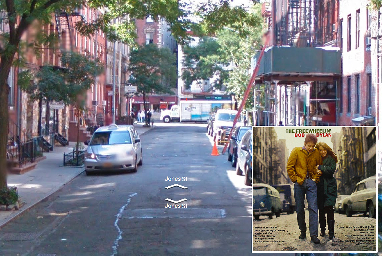 Bob Dylan, 'The Freewheelin' Bob Dylan' - Jones Street/ West 4th Street, NYC