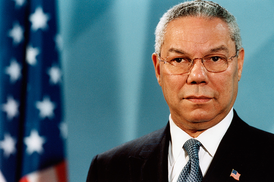F is for former US Secretary Of State Colin Powell