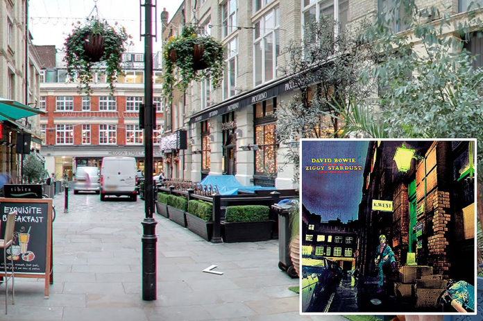 David Bowie, 'The Rise And Fall Of Ziggy Stardust' – 23 Heddon St, London