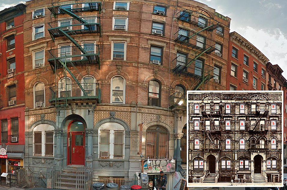 Led Zeppelin, 'Physical Graffiti' -  96 and 98 St. Mark's Place, East Village NYC