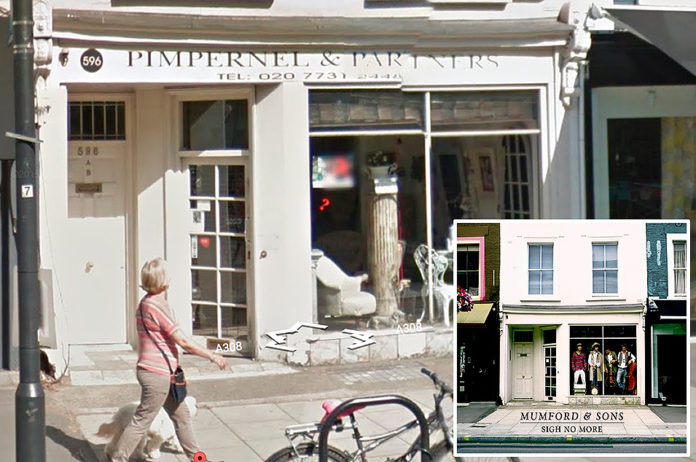 Mumford & Sons, 'Sigh No More' - Pimpernel & Partners, King's Road London
