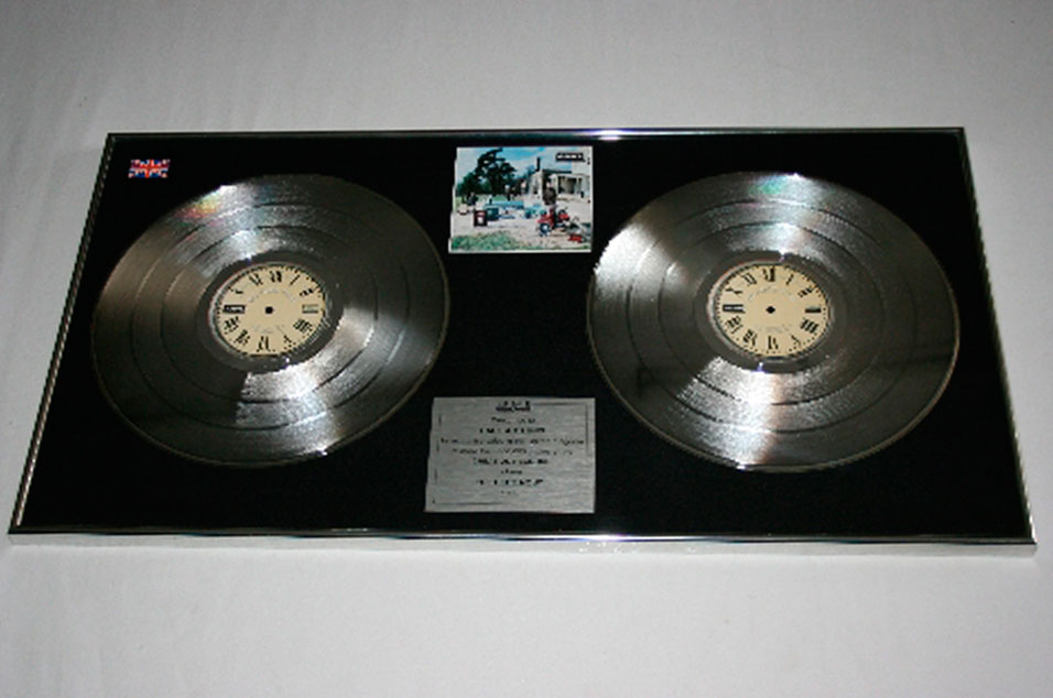'Be Here Now' platinum disc – £800-£1200