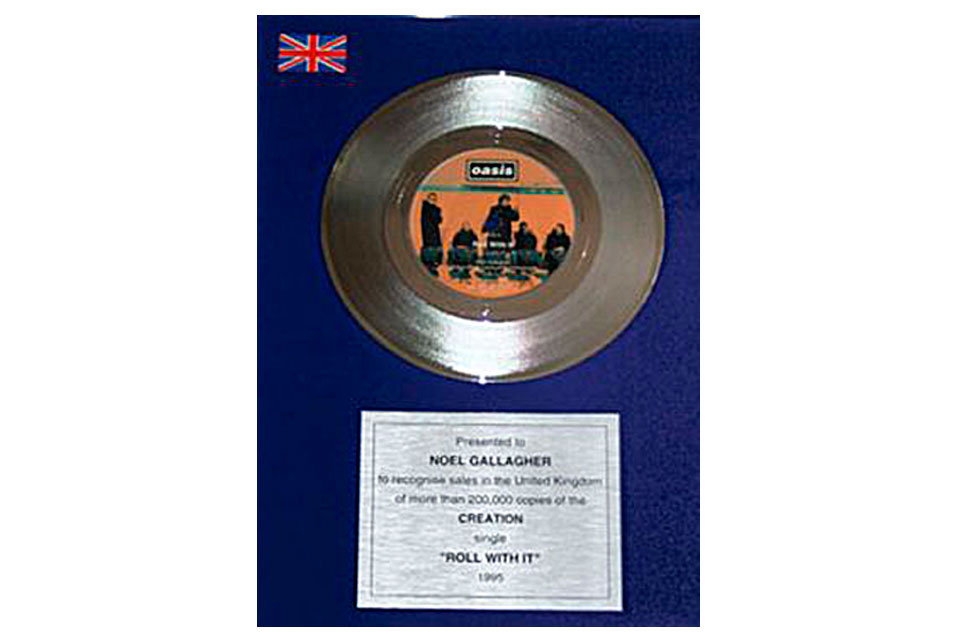 'Roll With It' platinum disc – £4,100