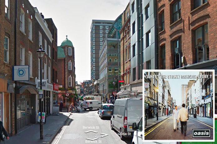 Oasis, 'What's The Story (Morning Glory)?' - Berwick St, Soho, London