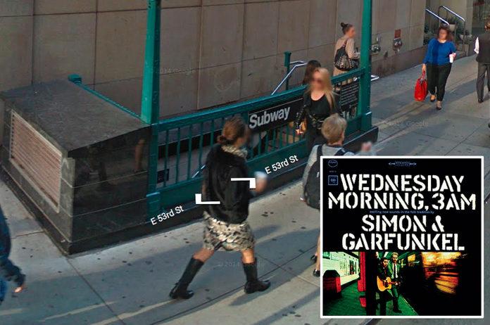 Simon & Garfunkel, 'Wednesday Morning, 3am' - New York subway, Fifth & 53rd St, E/F lines
