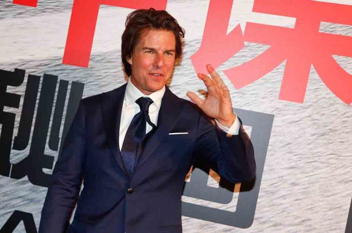 Tom Cruise Drops Into London Sports Ground By Private Helicopter