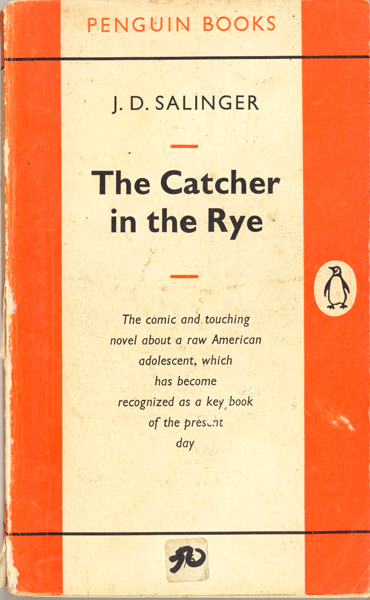 Tom Cohen, SCUM: <i>The Catcher in the Rye</i> by JD Salinger.