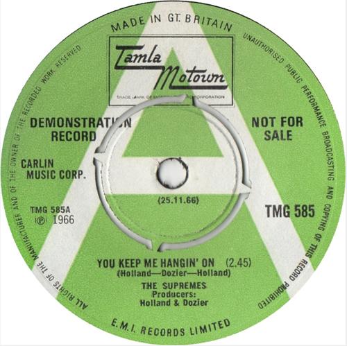 The Supremes - 'You Keep Me Hangin' On'