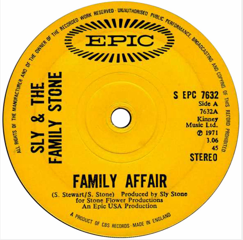 Sly And The Family Stone - 'Family Affair'