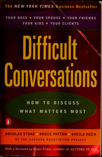Ronnie Vannucci, The Killers: <i>Difficult Conversations</i> by Douglas Stone, Bruce Patton, and Sheila Heen.