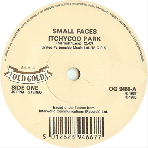 Small Faces - 'Itchycoo Park'