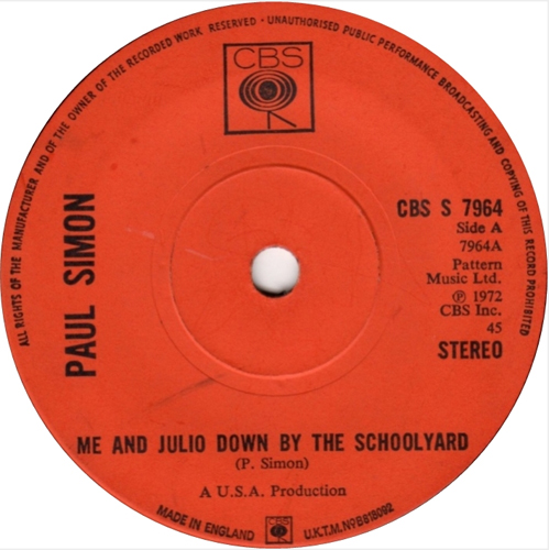 Paul Simon - 'Me And Julio Down By The School Yard'