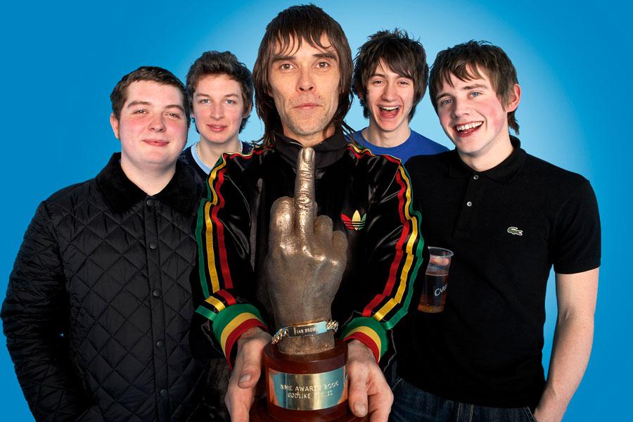 Ian Brown with Arctic Monkeys