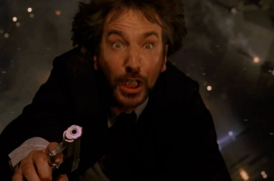 Alan Rickman as Hans Gruber in 'Die Hard'