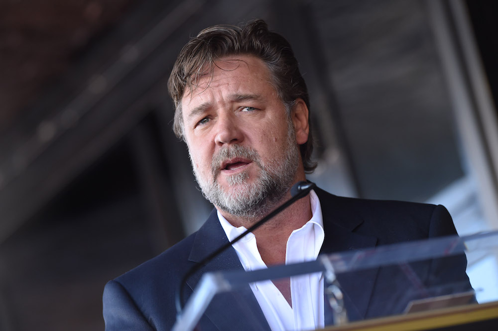 HOLLYWOOD, CA - NOVEMBER 05: Actor Russell Crowe attends the ceremony honoring director Ridley Scott with a star on the Hollywood Walk of Fame on November 5, 2015 in Hollywood, California. (Photo by Axelle/Bauer-Griffin/FilmMagic)