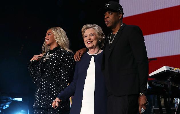 Beyonce Jay Z Hillary Clinton