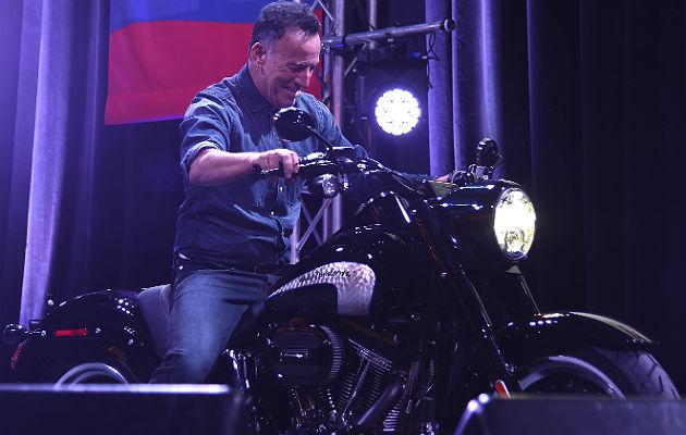 Risultato immagini per bruce springsteen riding motorbike