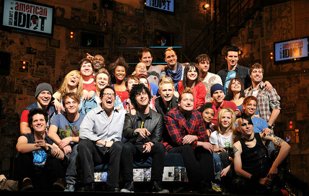 Green Day with the 'American Idiot' musical cast