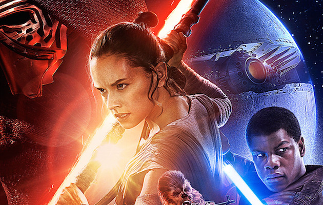 The poster for Star Wars: the Force Awakens, which precedes Star Wars episode 8