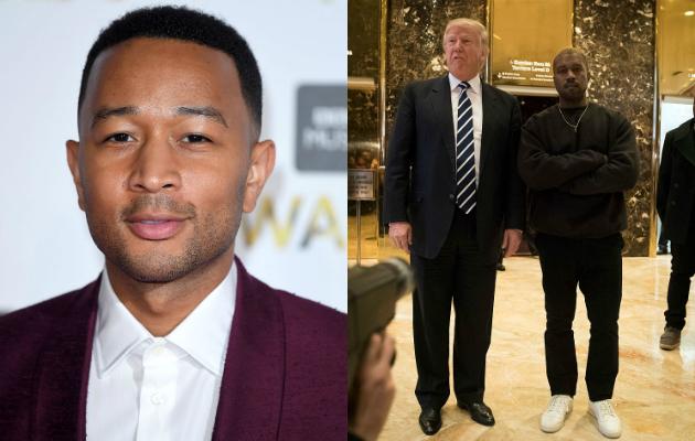 John Legend Kanye West Donald Trump
