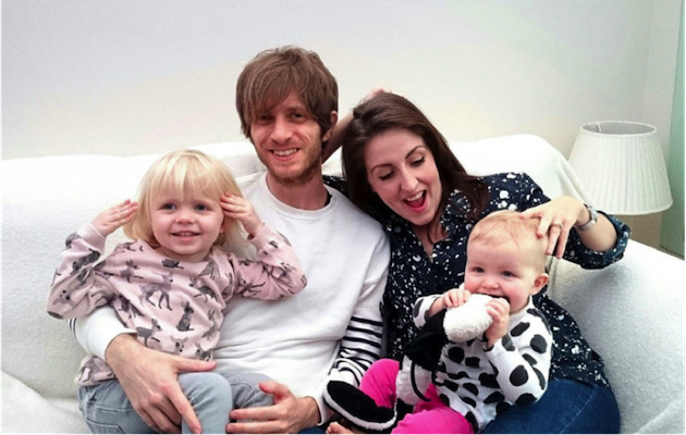 Greg Gilbert of Delays with his family
