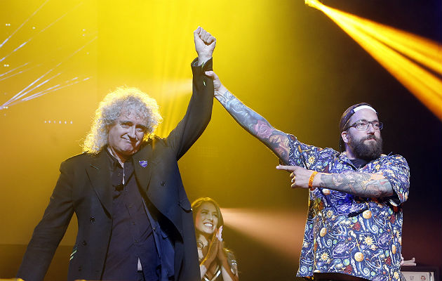 Brian May at the Metal Hammer Golden God Awards