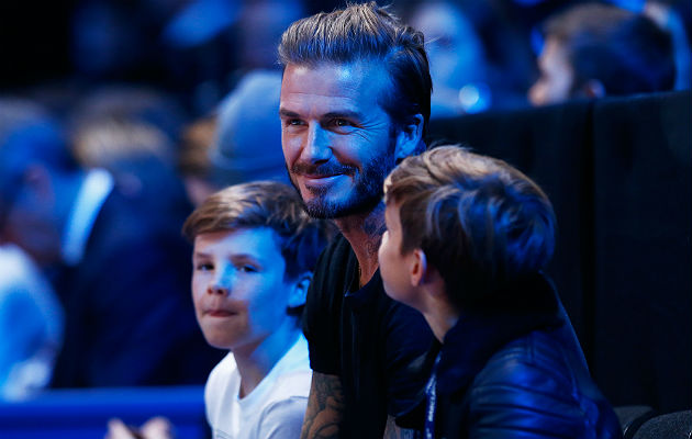Cruz with David Beckham