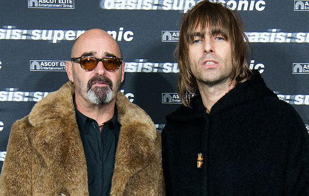 Bonehead and Liam Gallagher
