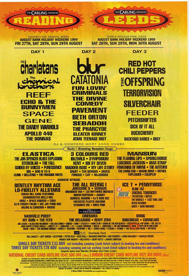 Reading & Leeds 1999