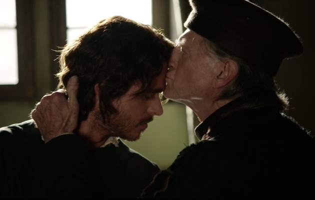 Richard Madden and David Bradley in Medici: Masters of Florence