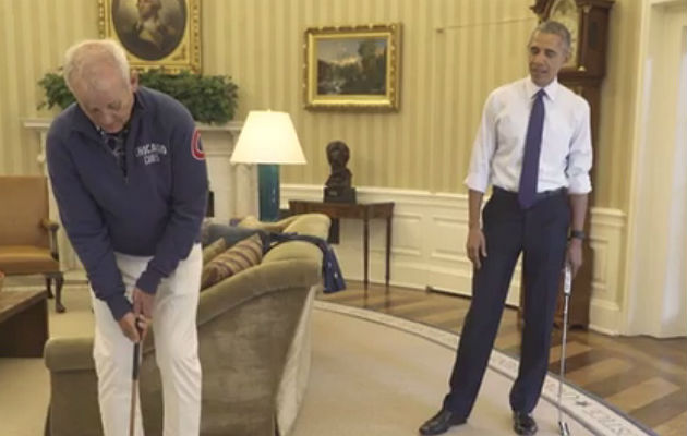 Bill Murray and Barack Obama