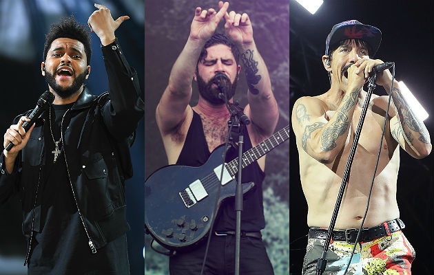 The Weeknd, Foals and Red Hot Chili Peppers