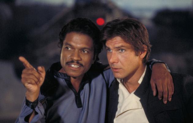 Lando Calrissian and Han Solo in the Empire Strikes Back