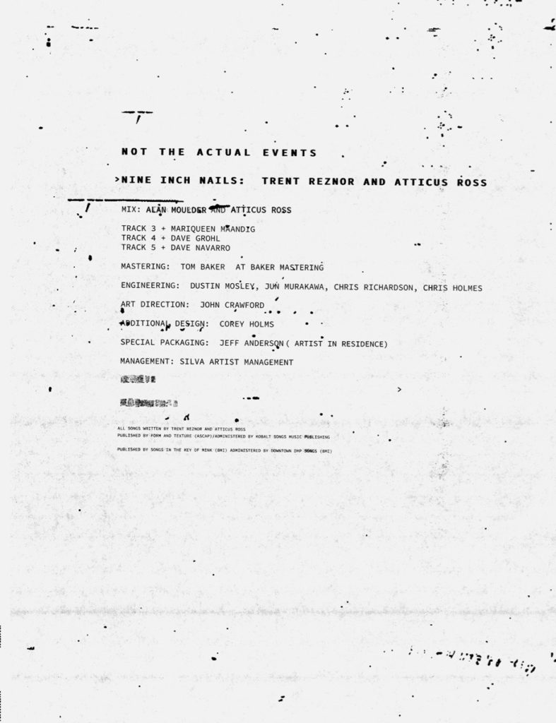 Nine Inch Nails' Not The Actual Events