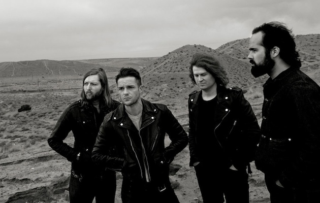 The Killers during the 'Battle Born' era in 2013