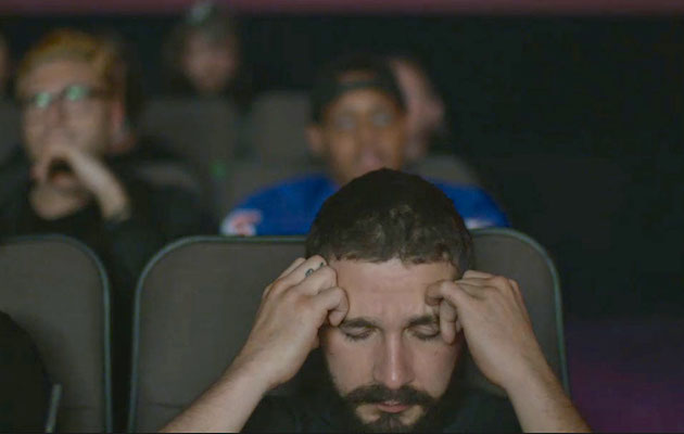 A still from Shia Labeouf's 'Allmymovies' project