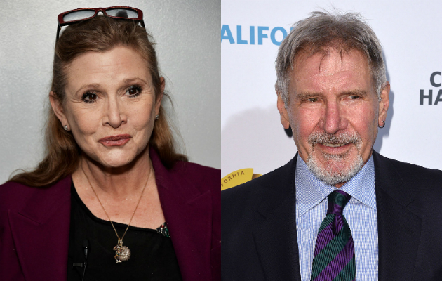 Carrie Fisher Harrison Ford sing oscar