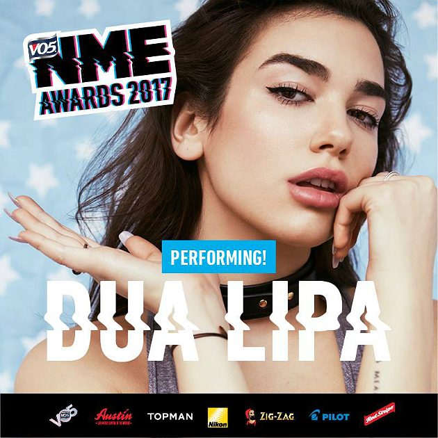 Dua Lipa will perform at the VO5 NME Awards 2017