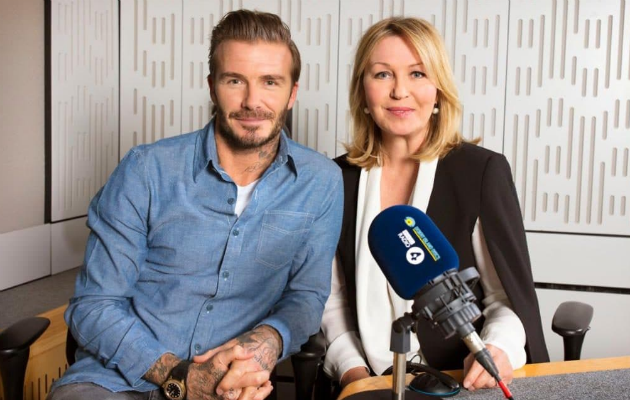 David Beckham appears with Kirsty Young on Desert Island Discs