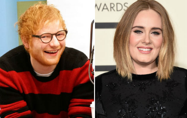 Ed Sheeran says Adele's his nearest rival