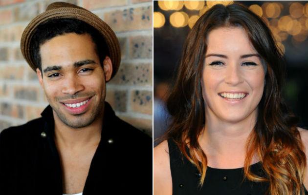 Eurovision hopefuls Danyl Johnson and Lucie Jones