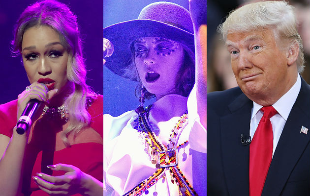 Rebecca Ferfuson, Charlotte Church, Donald Trump