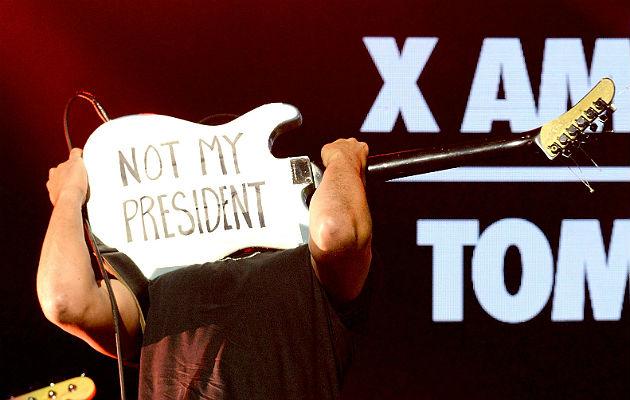 Tom Morello protests Donald Trump