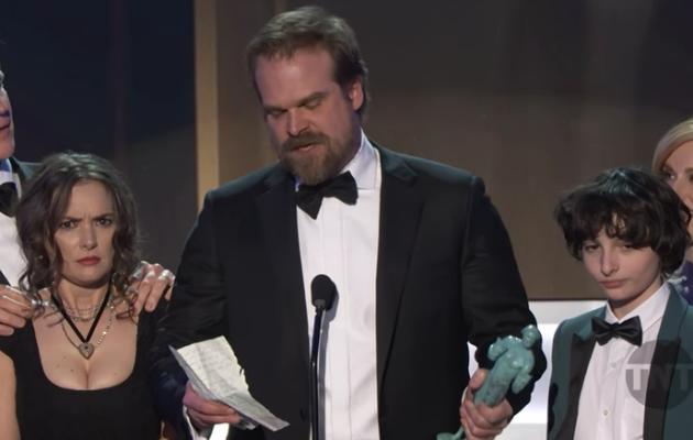 Stranger Things star delivers rousing SAG Awards speech