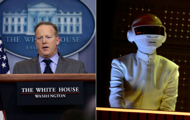 Sean Spicer's Daft Punk tweets have resurfaced