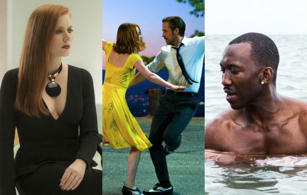 Nocturnal Animals, La La Land and Moonlight are among the films tipped to for Oscar nominations in 2017