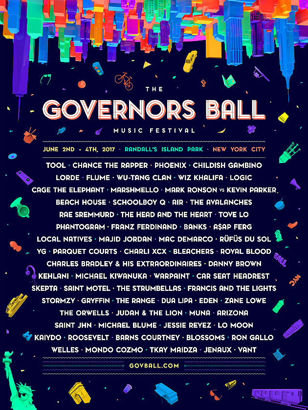 The Governors Ball 2017 line-up